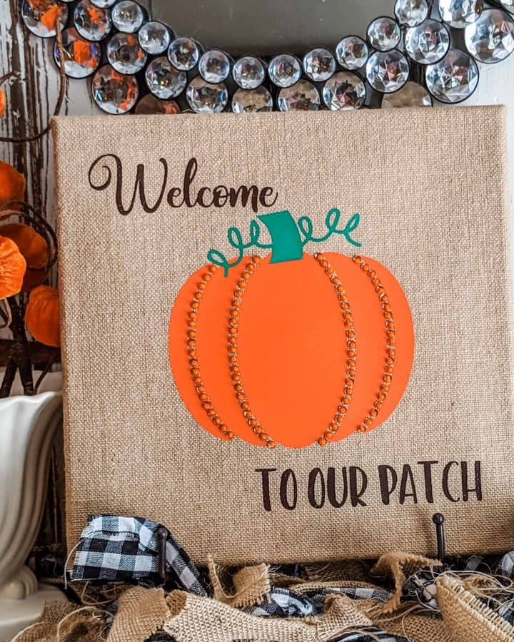 beaded pumpkin fall decor idea
