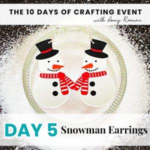 DIY snowman earrings