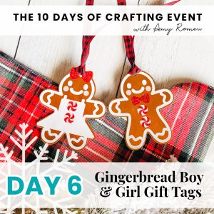 gingerbread boy and girl gift tags