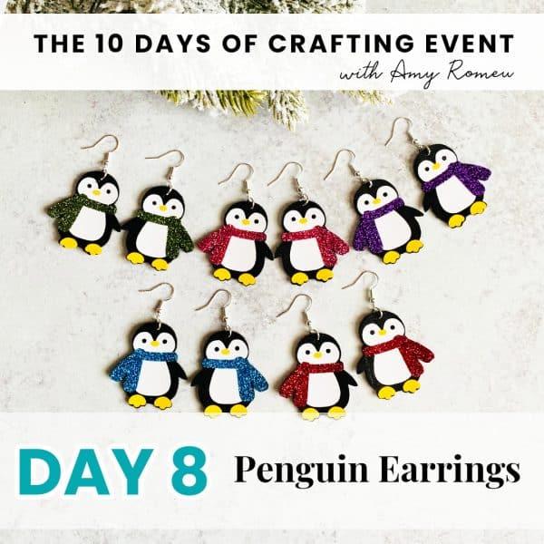 5 pair of penguin earrings