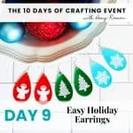 easy holiday earrings