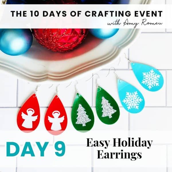 easy holiday earrings