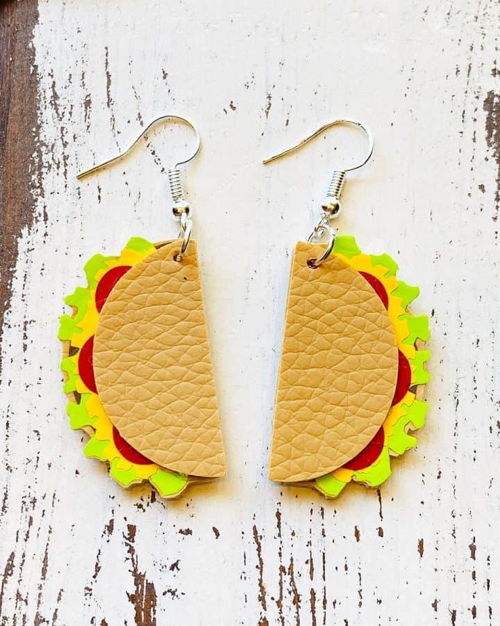 How to make Taco Earrings with a Cricut