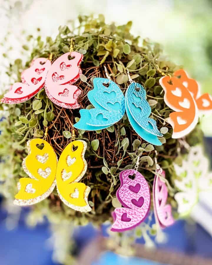 DIY Cricut Butterfly Wing Earrings
