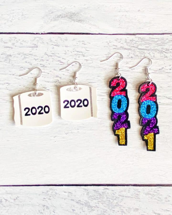 2020 Toilet Paper & 2021 New Year's Eve Earrings