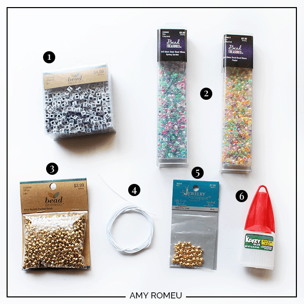 stretch bracelet supplies
