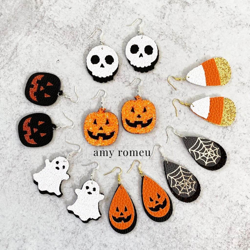 Halloween Earring SVG File Bundle