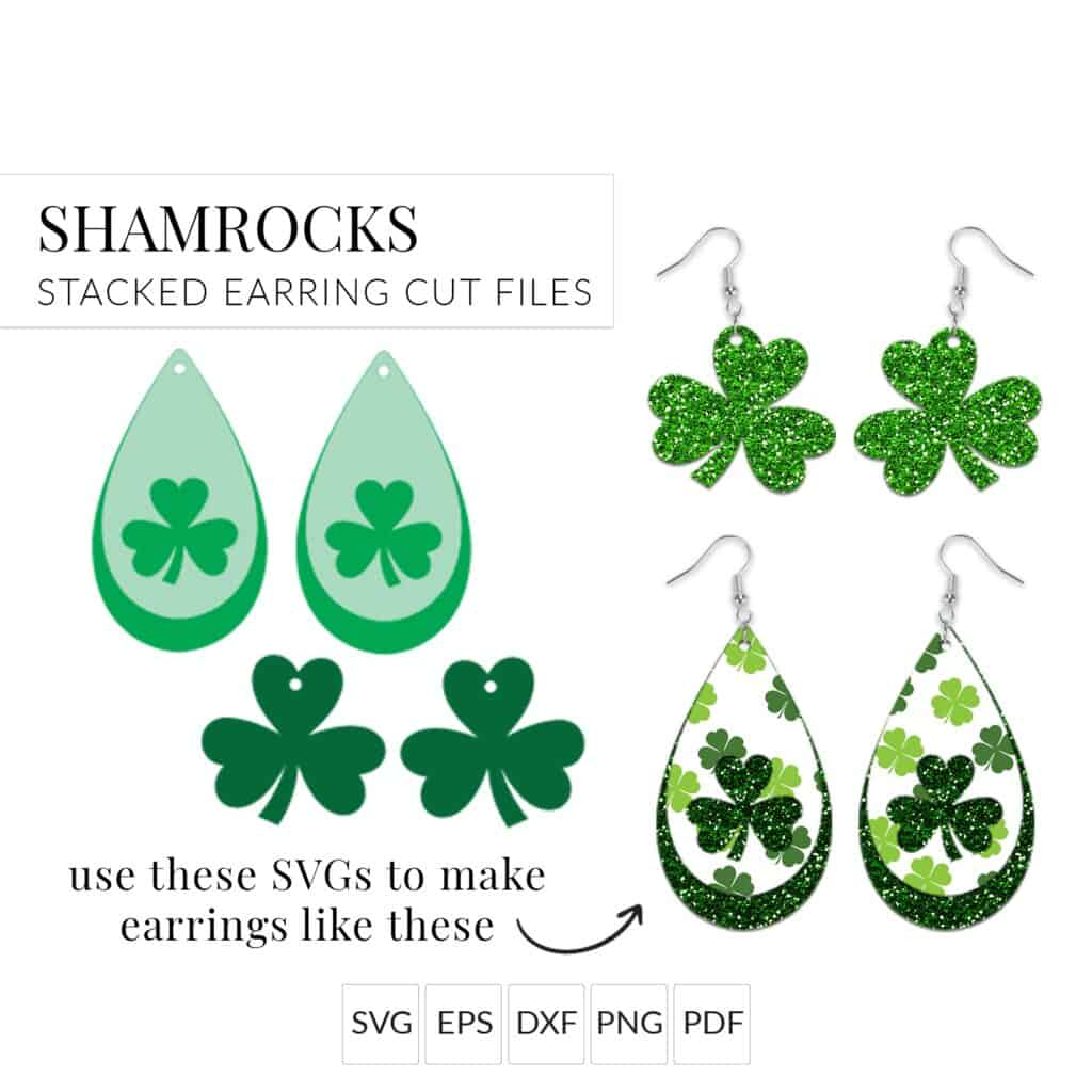 St Patrick's Day earrings Amy Romeu