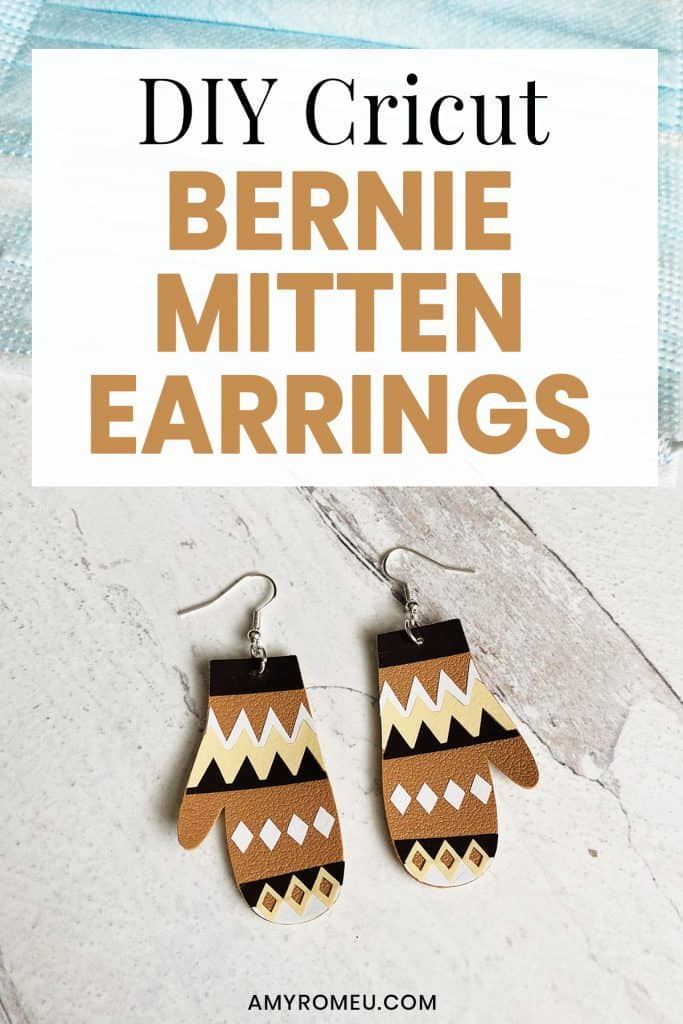 DIY Cricut Bernie Mittens Earrings