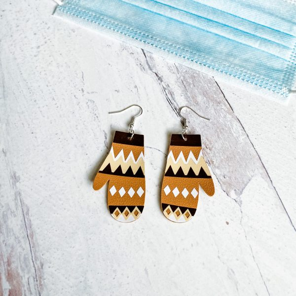 bernie mittens earrings