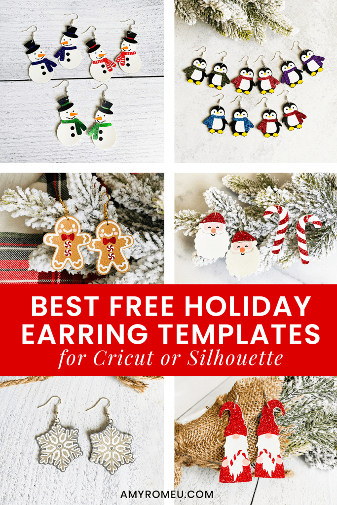 Christmas earring SVG templates