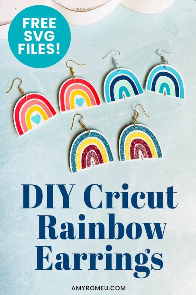 diy rainbow earrings