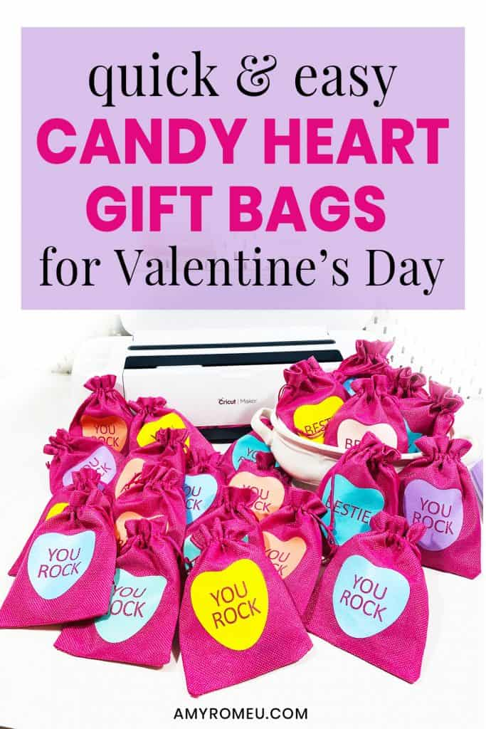 Quick and Easy Candy Heart Gift Bags for Valentine's Day