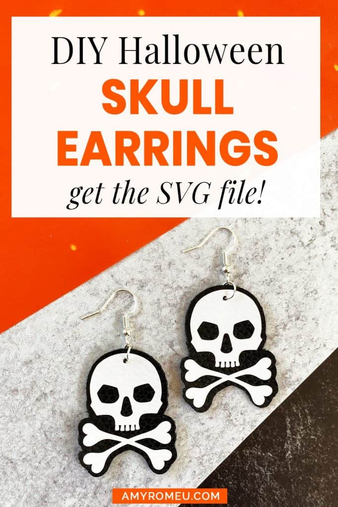 Cricut DIY Halloween Skull Earrings Tutorial