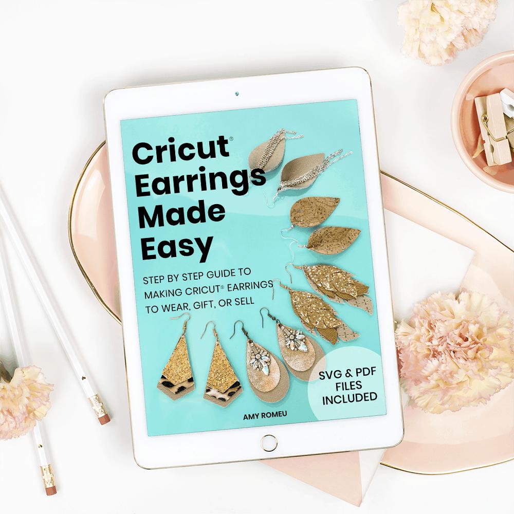 Digital workbook Cricut Earrings Made Easy