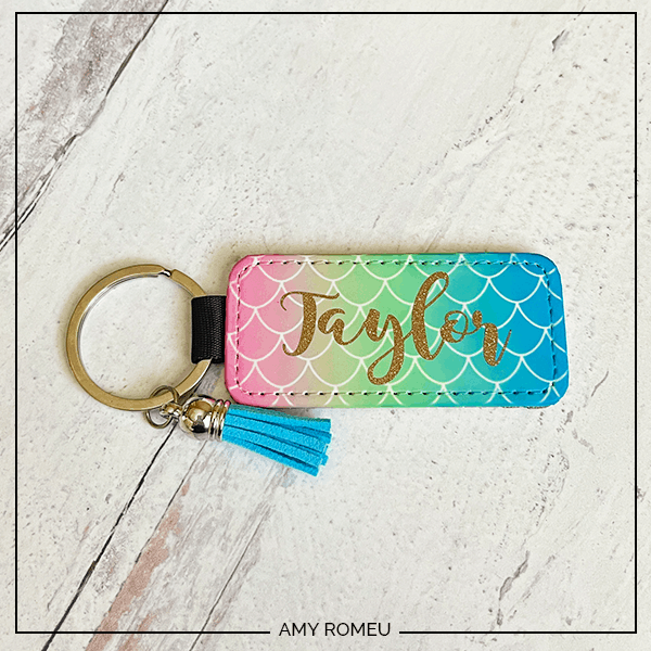 personalized Cricut infusible ink keychain