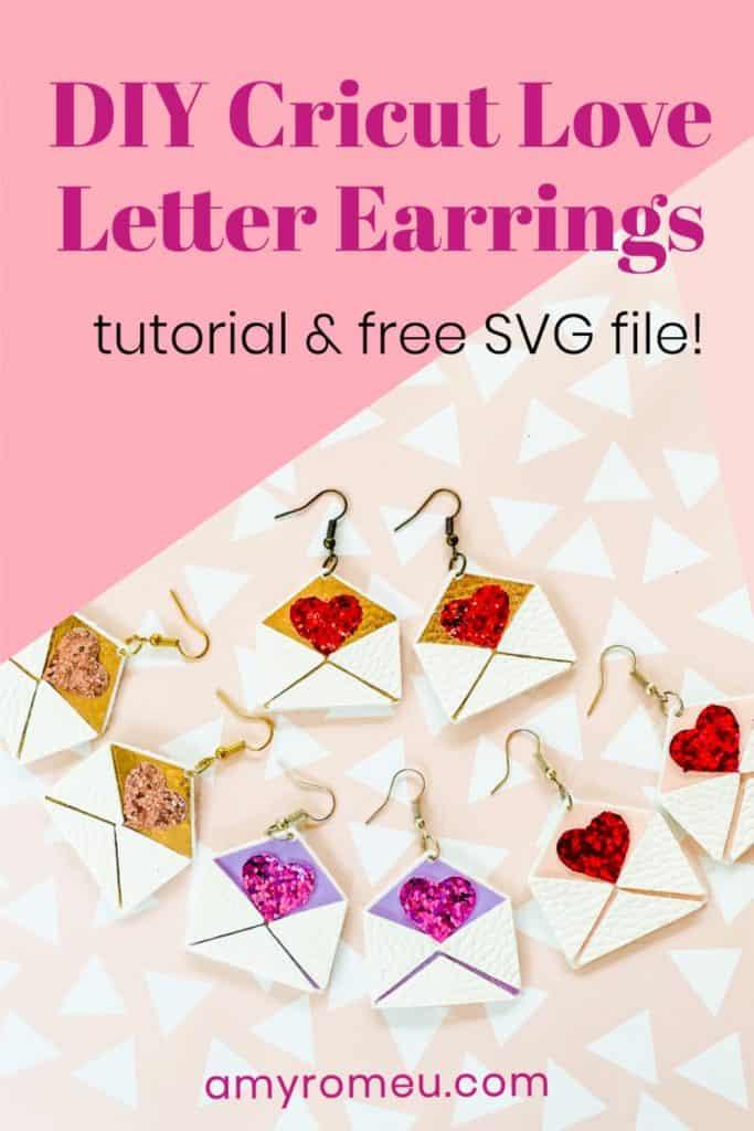 Cricut Valentine's Day Earrings DIY