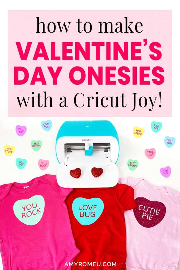 DIY Candy Heart Valentine's Day Onesies with the Cricut Joy