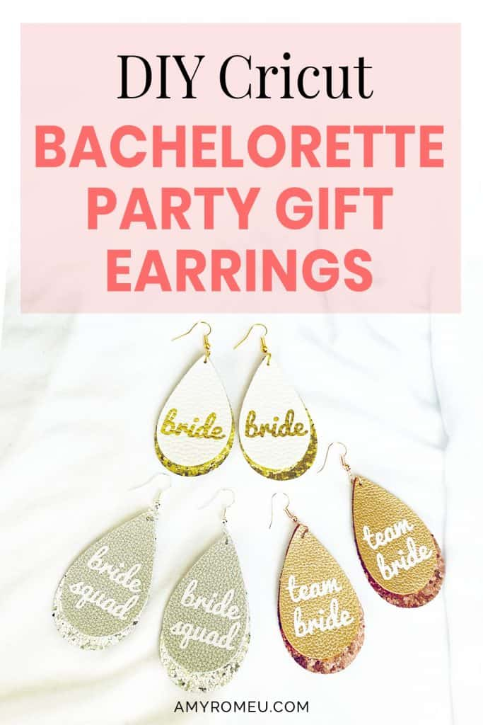 bachelorette party gift earrings DIY