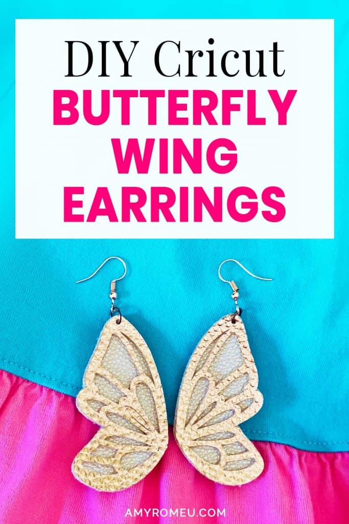 faux leather butterfly earrings