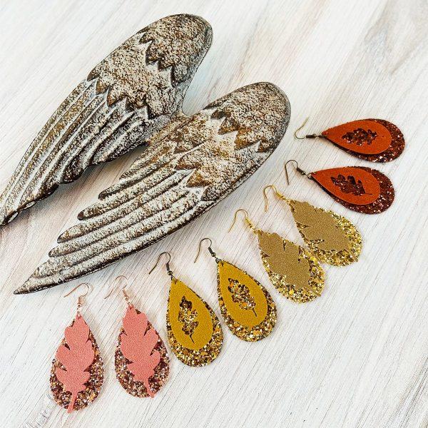 DIY Cricut Faux Suede Fall Leaf Earrings