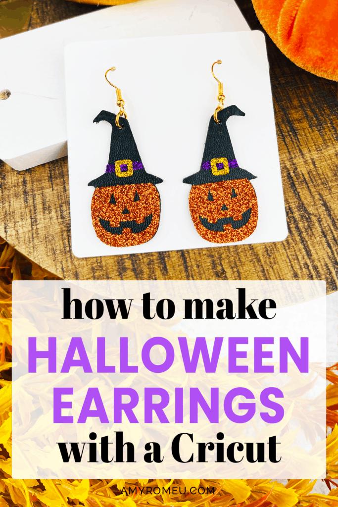 DIY Cricut Halloween Earrings