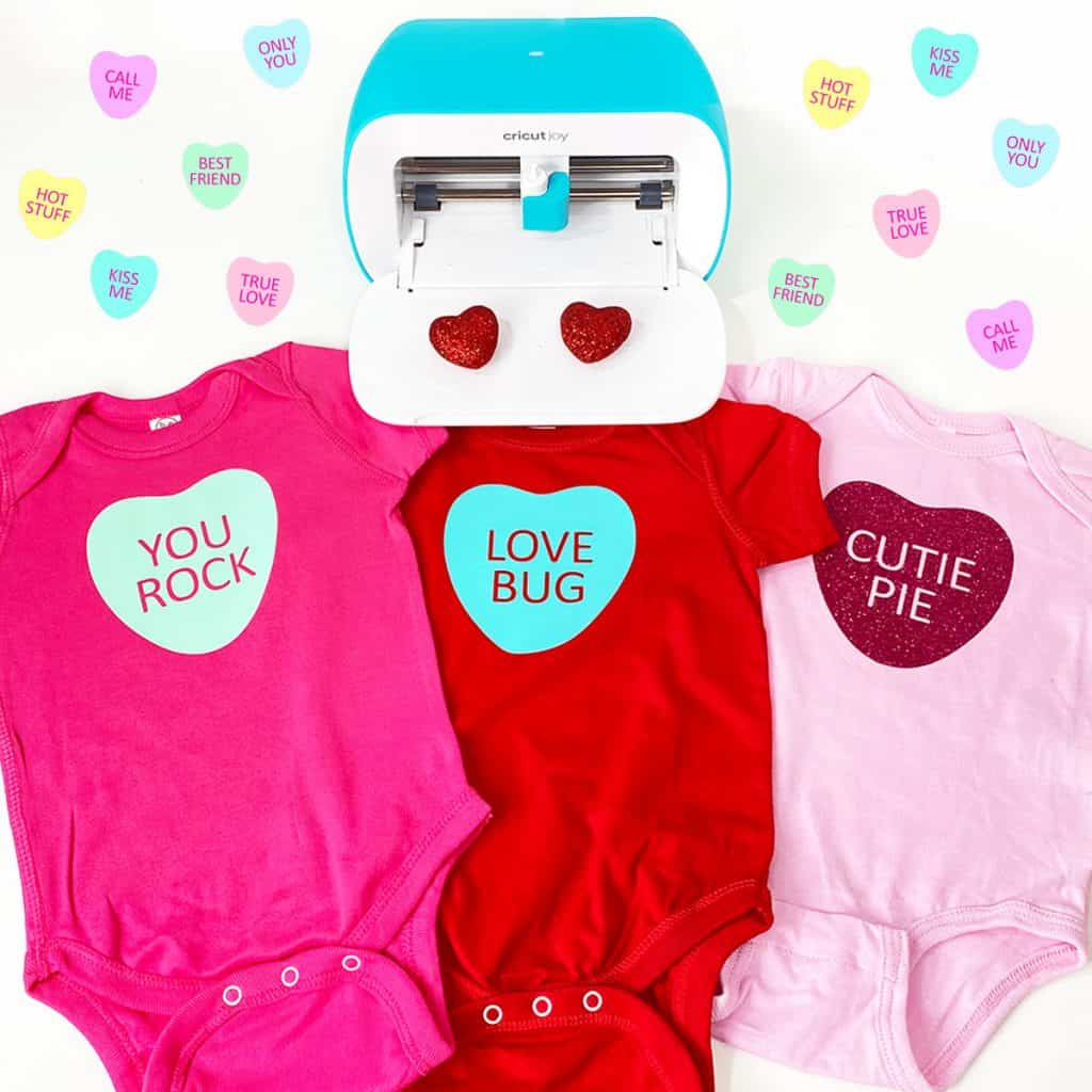 DIY Cricut Joy Candy Heart Onesies