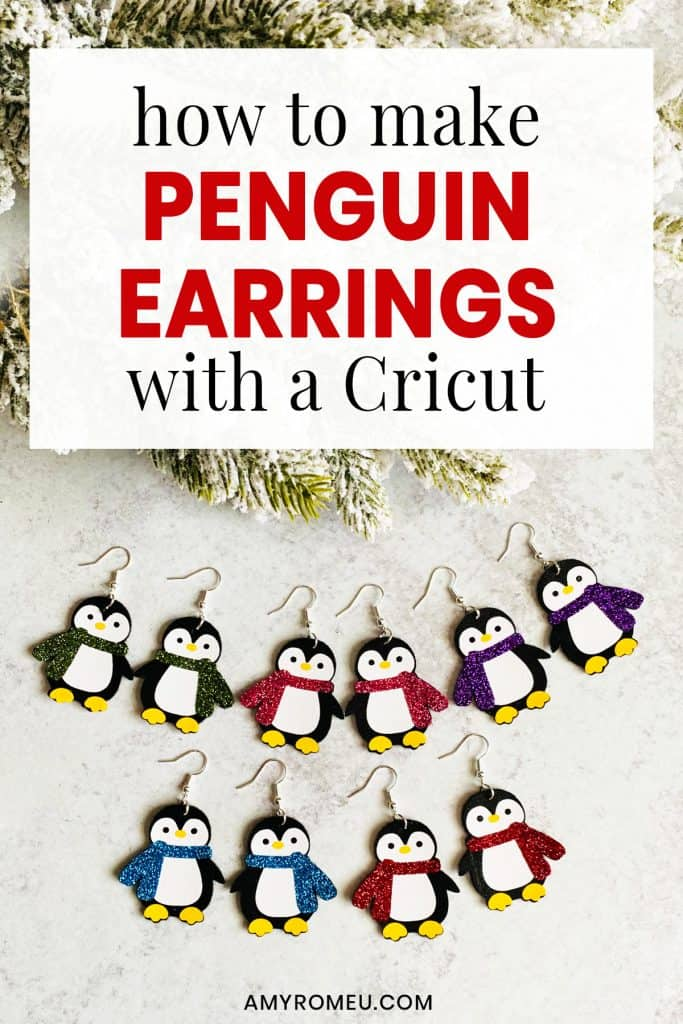 five pair of penguin earrings