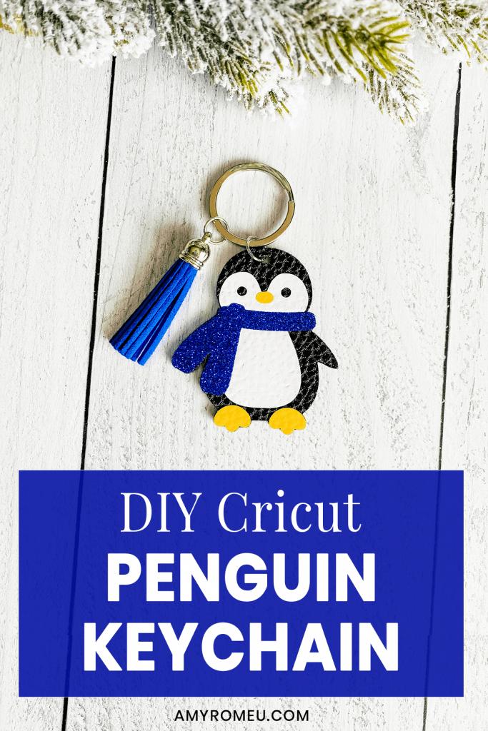 DIY Cricut Penguin Keychain