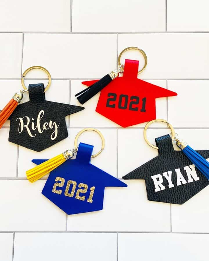 Personalized Grad Cap Keychains