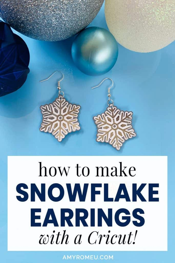 faux leather snowflake earrings and holiday ornaments