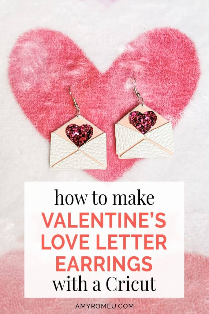 DIY Cricut Valentines Day Earrings