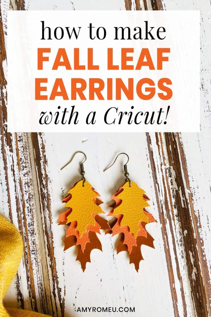 layered fall leaf earrings in three colors of fall