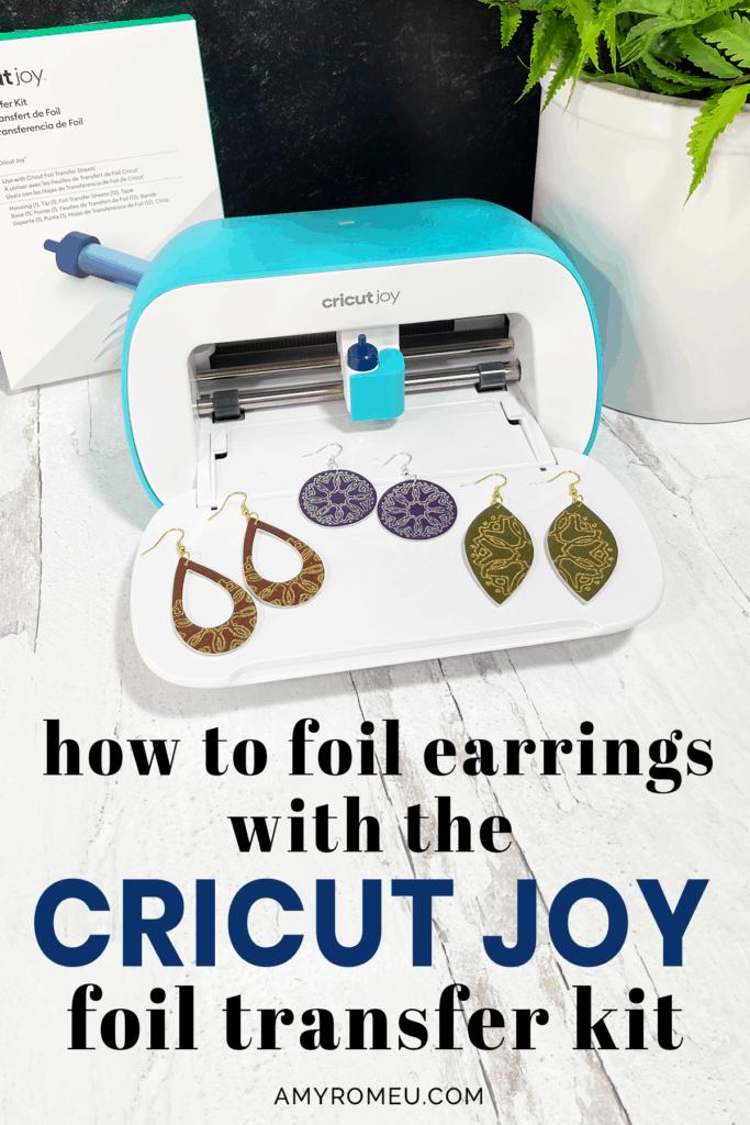 DIY Foiled Faux Leather Earrings with the Cricut Joy
