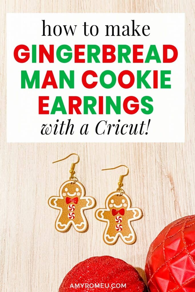 DIY Gingerbread Man Cookie Earrings