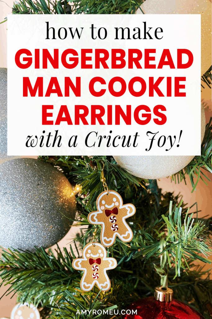 DIY Gingerbread Man Earrings with a Cricut Joy