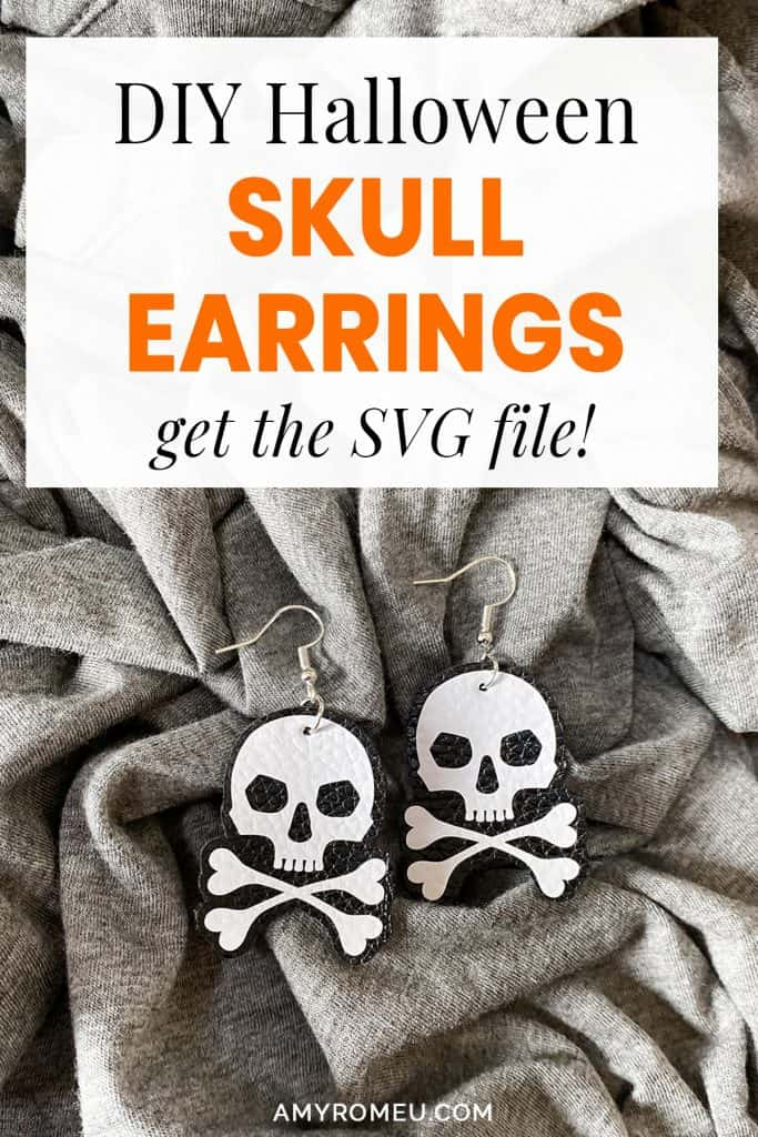 DIY Halloween Skull Earrings with a Cricut