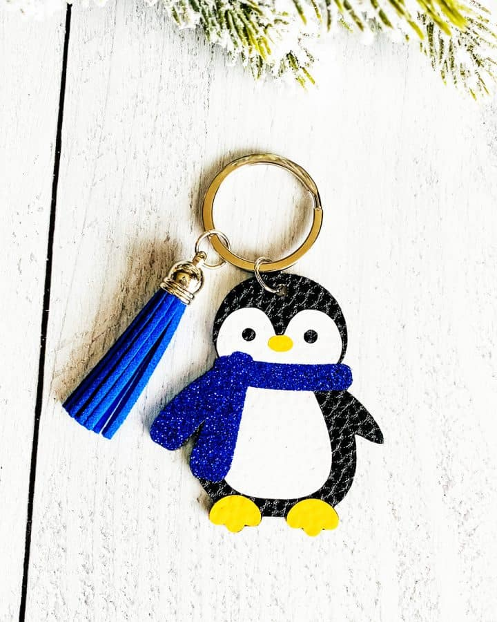 DIY Penguin Keychain with Faux Leather and a Cricut
