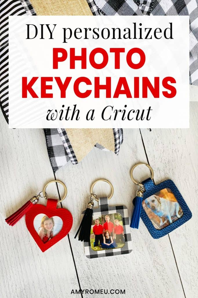 DIY Cricut Personalized Photo Keychains