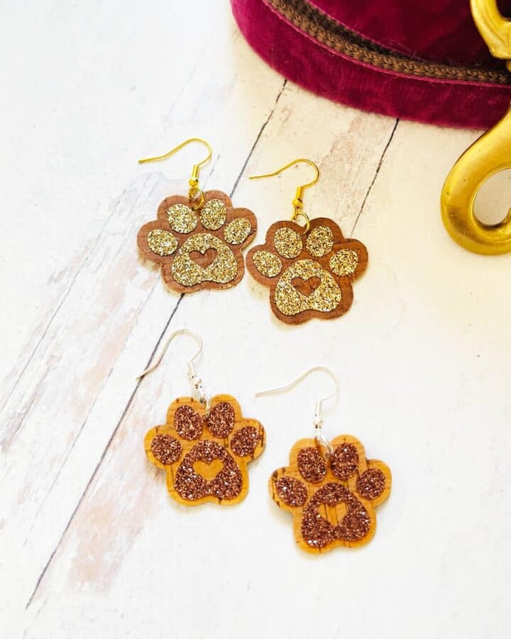 How to Make Dog Paw Print Earrings with a Cricut
