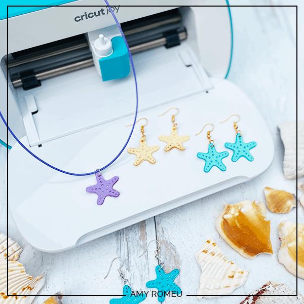 How to Make Earrings with Cricut Joy - Summer Starfish