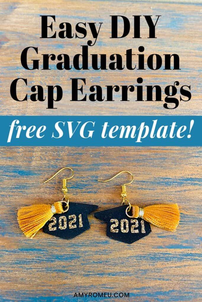 2021 Graduation Cap Earrings