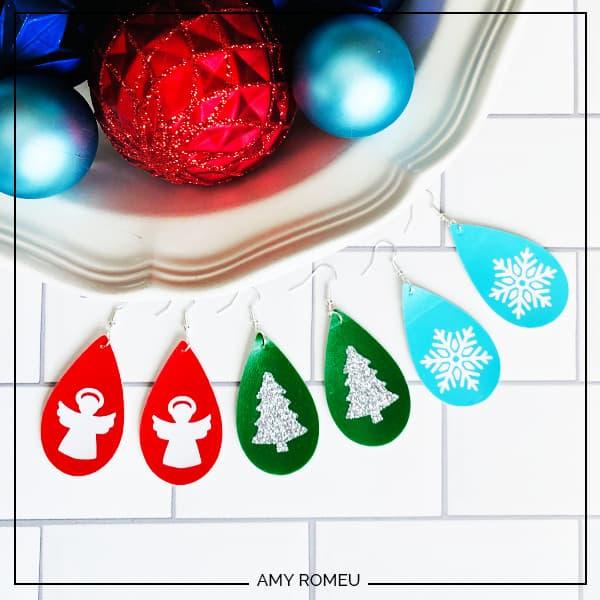 easy DIY holiday earrings
