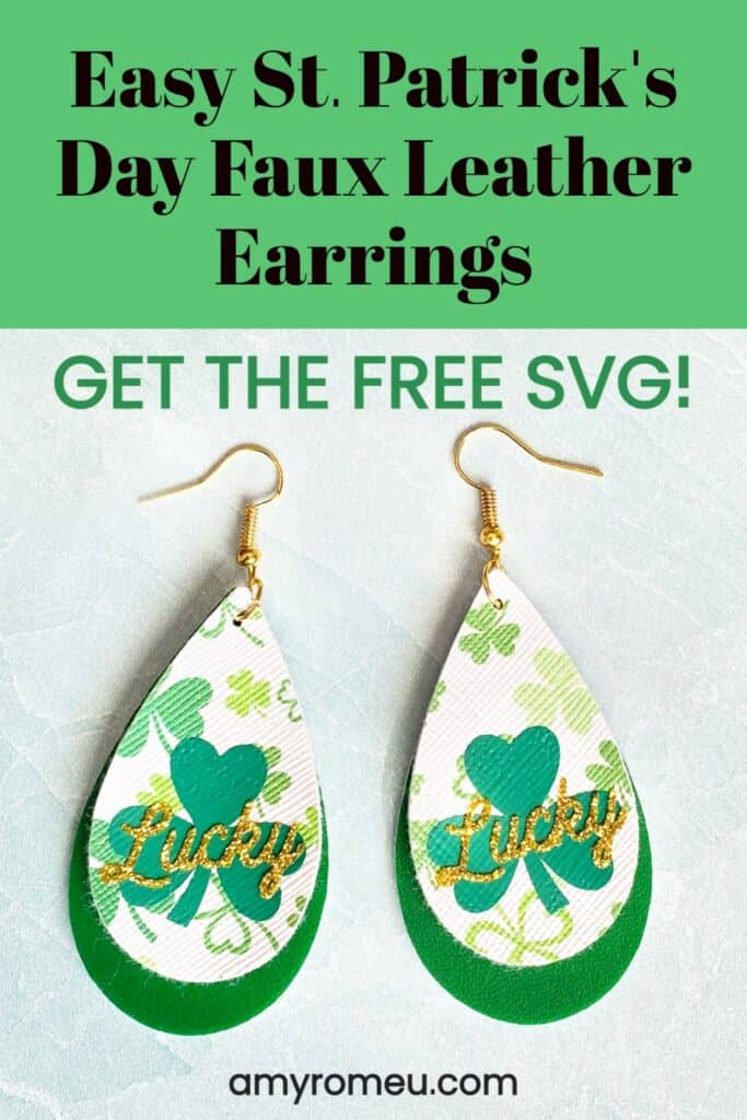 Easy St. Patrick's Day Faux Leather Earrings