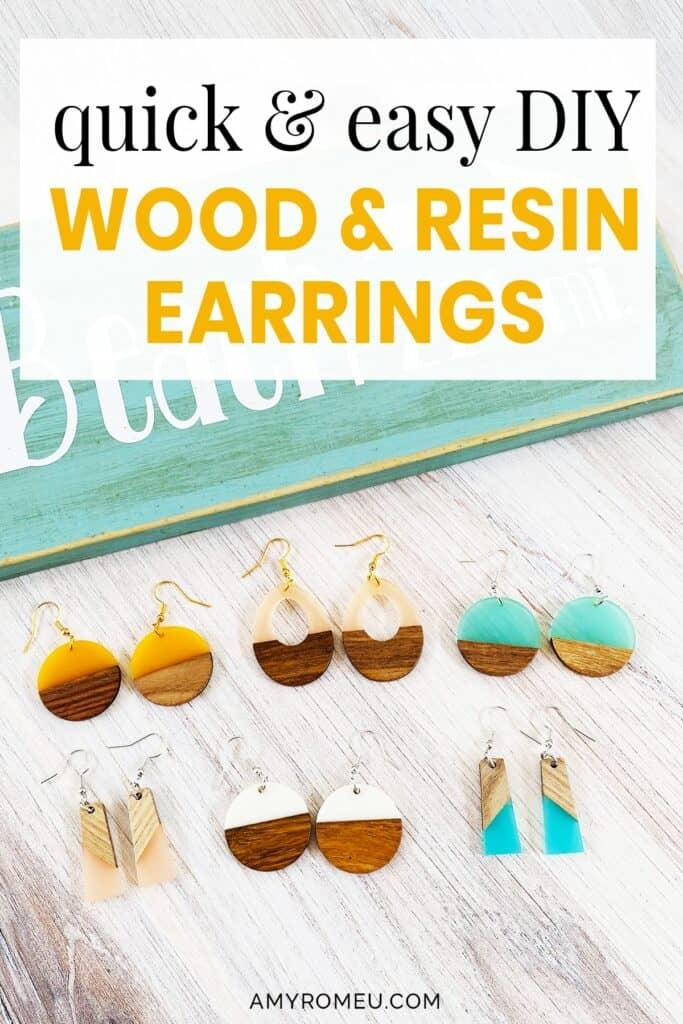 Easy DIY Wood & Resin Earrings Tutorial