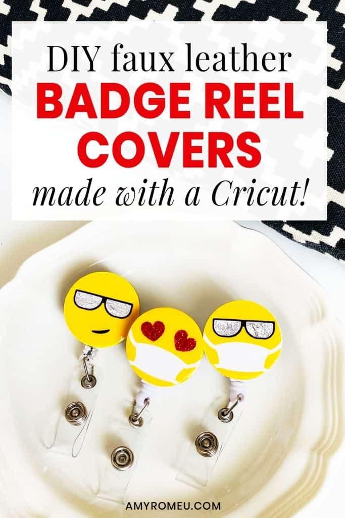DIY Badge Reel Covers made with A Cricut