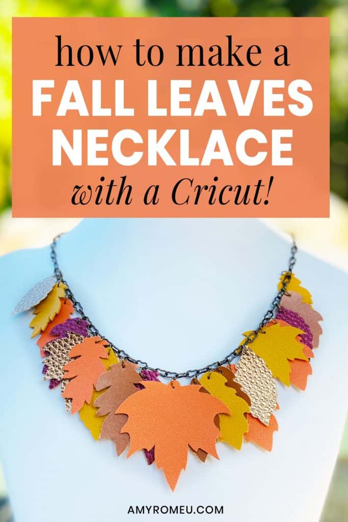 Faux Leather Fall Leaves Necklace DIY