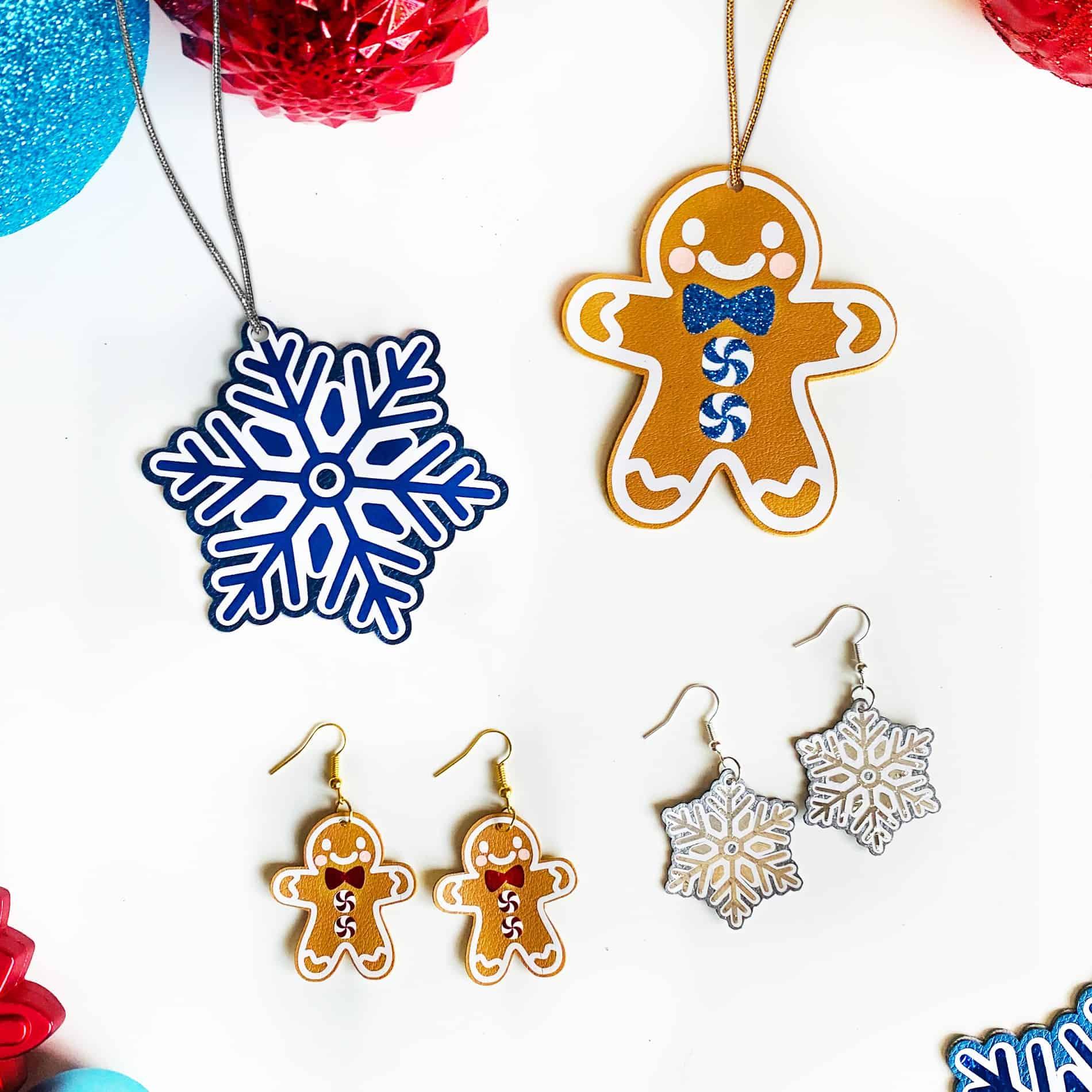 How to Make Festive Holiday Earrings with a Cricut