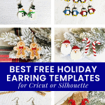 best christmas earring SVGs