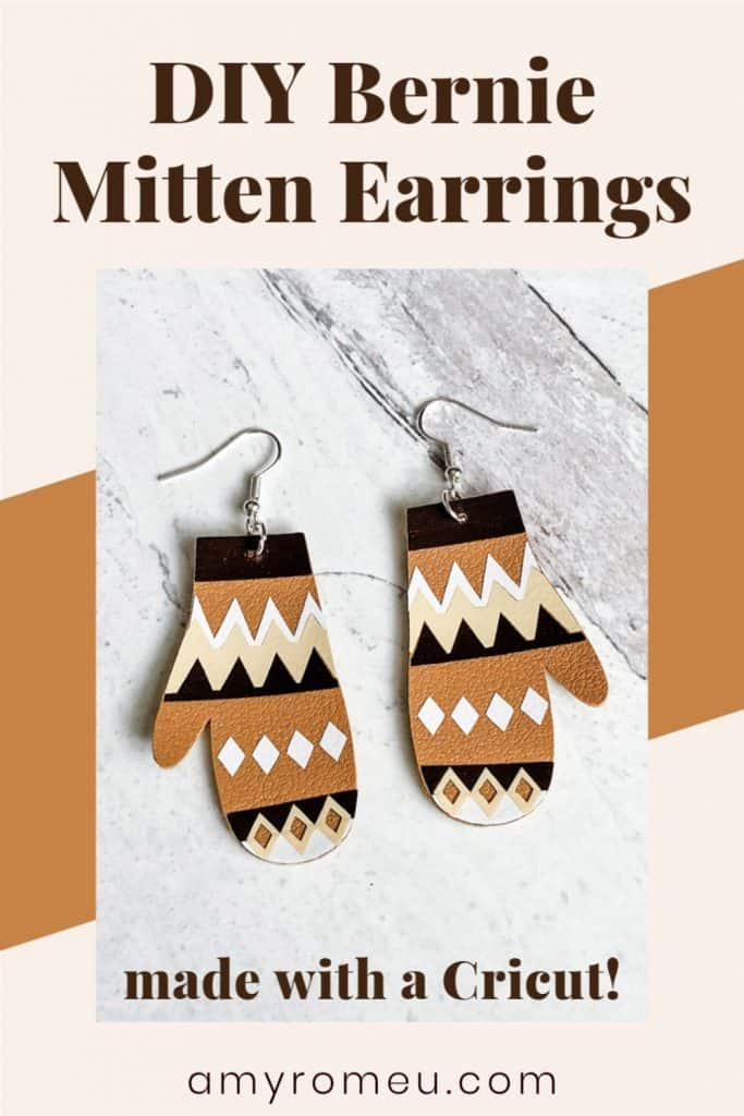 DIY Bernie Sanders Mitten Earrings